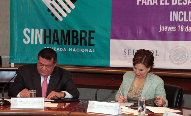 Patentiza el gobernador de Campeche que la entidad está lista para contribuir a la Cruzada Contra el Hambre.