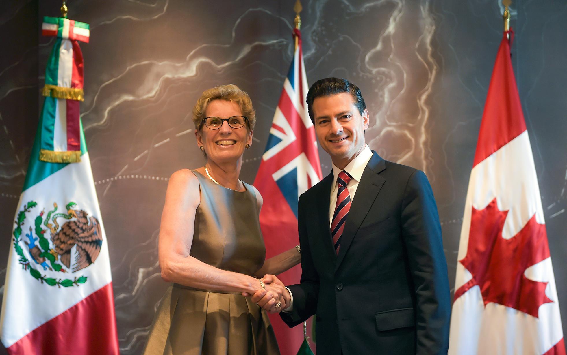 El Primer Mandatario mexicano se reunió también con Kathleen Wynne, Premier de la Provincia de Ontario.