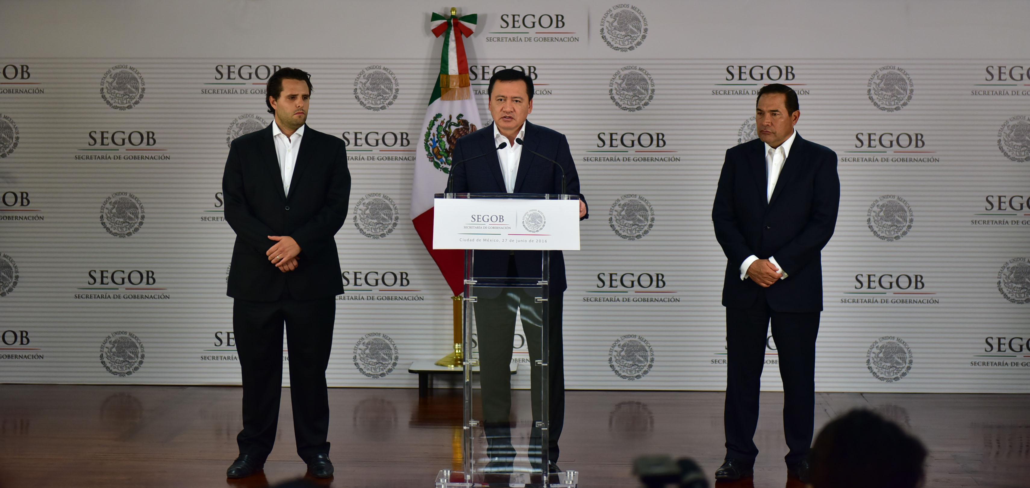 Mensaje a medis del Secretario de Gobernación, Miguel Ángel Osorio Chong
