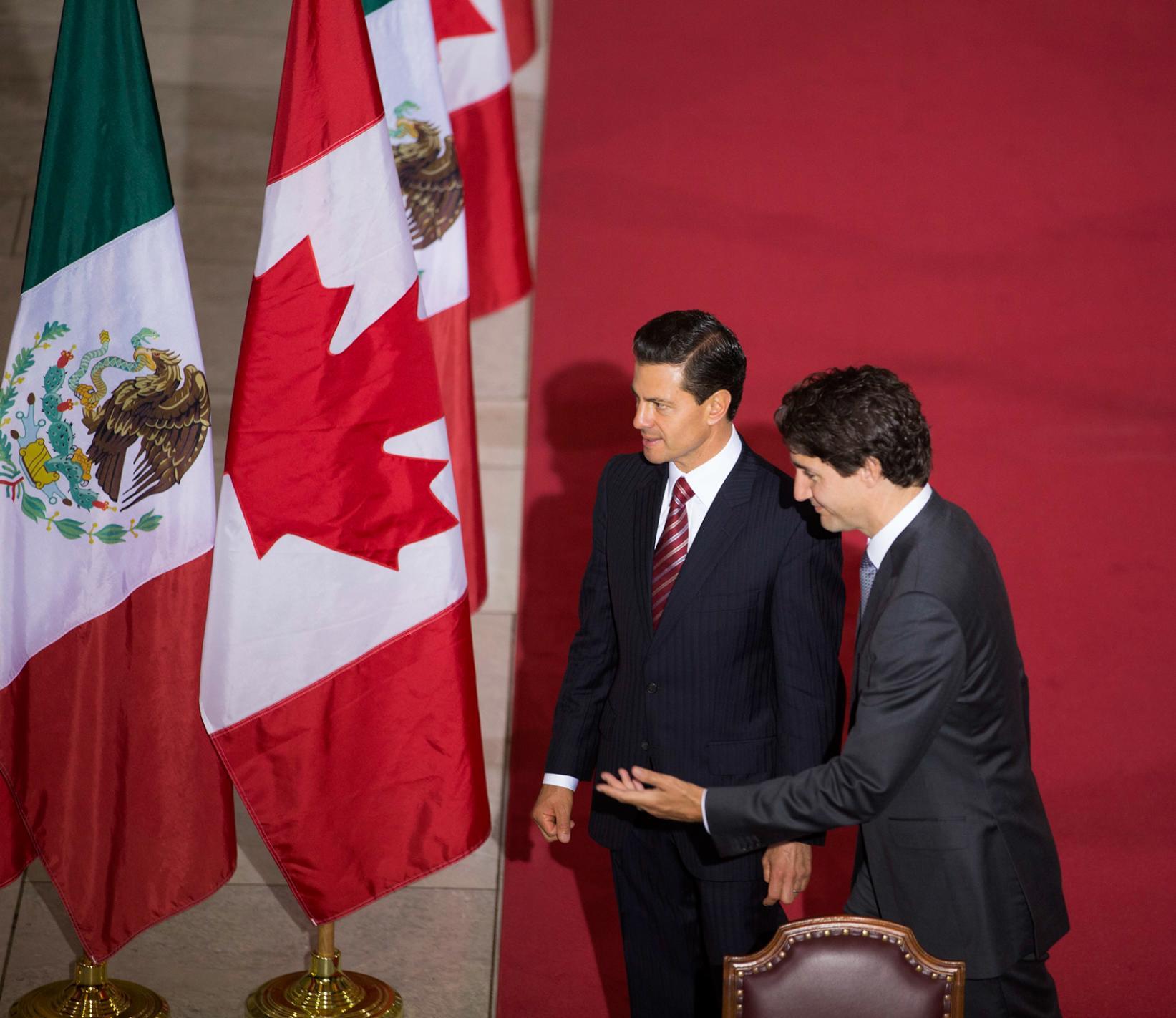 """""""El día de hoy hemos hecho oficial nuestra colaboración en el desarrollo internacional, especialmente en América Central y el Caribe"""": Justin Trudeau."""
