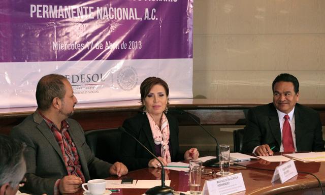 Firma Sedesol convenio para sumar esfuerzos para abatir el fenómeno del hambre con el coordinador general del Consejo Agrario Permanente (CAP)