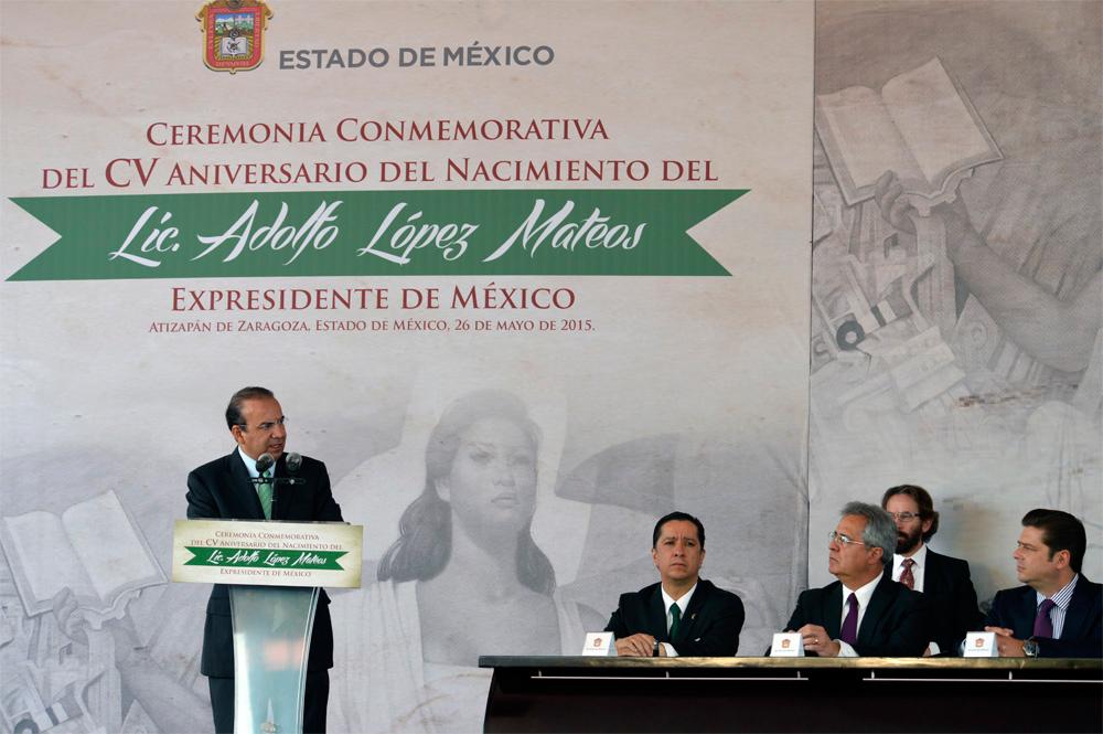Encabeza Titular de la STPS Aniversario del Nacimiento del Expresidente de México, Adolfo López Mateos, en representación del Presidente de la República.