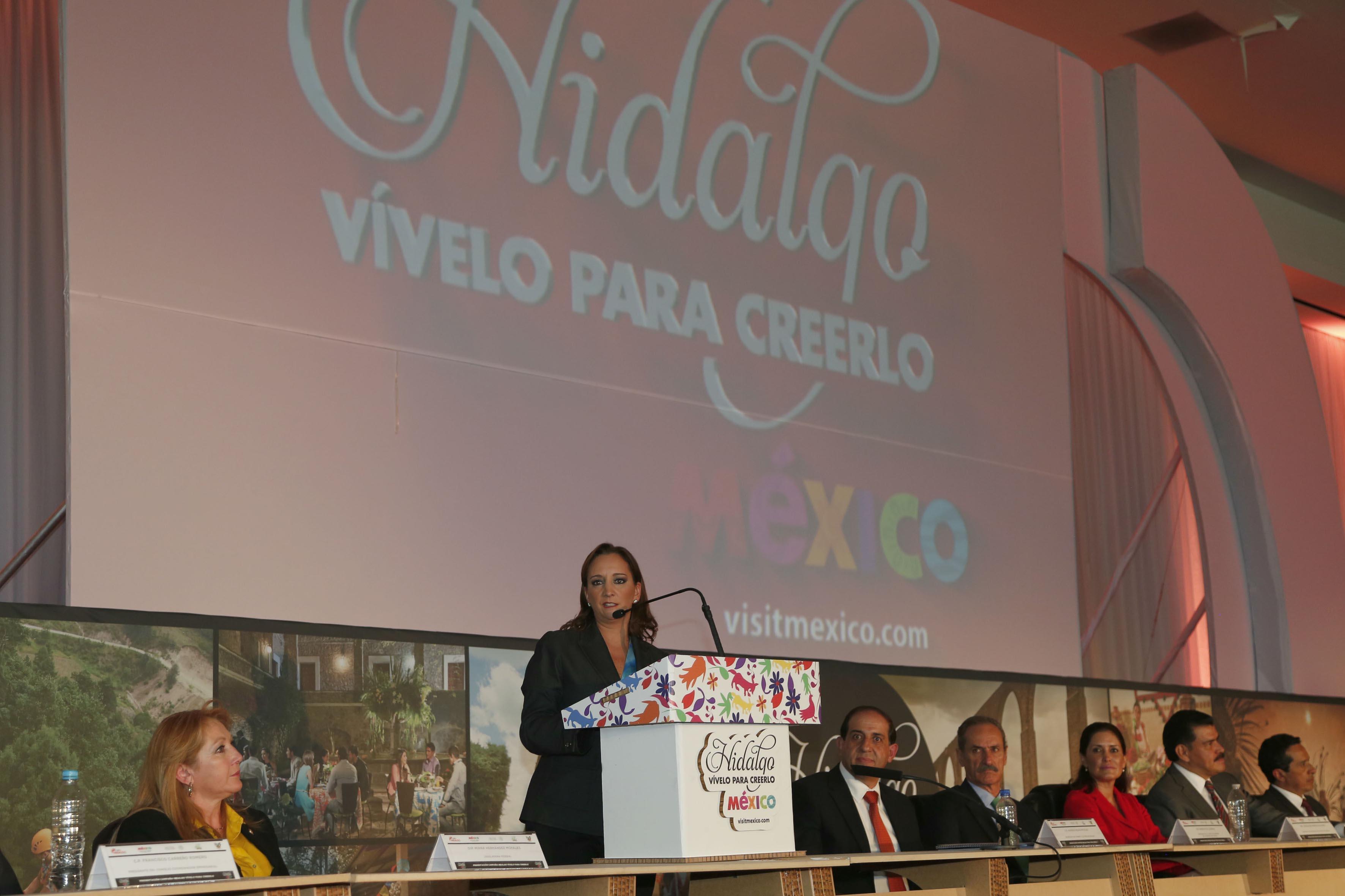 La titular de la SECTUR tomó protesta a los integrantes del Gabinete Turístico de Hidalgo.