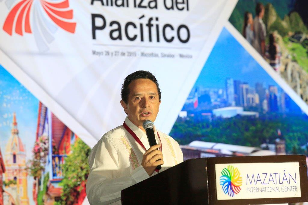 El Subsecretario de Innovación y Desarrollo Turístico de la Secretaría de Turismo, Carlos Joaquín González, inauguró la Segunda Macrorrueda de turismo de la Alianza del Pacífico representación de la titular de la dependencia, Claudia Ruiz Massieu.