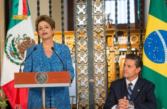 Dilma Rousseff en su discurso durante la comida en su honor, en Palacio Nacional.