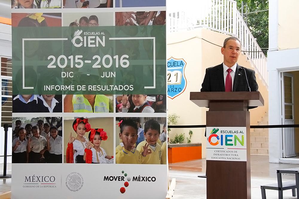 Estarán rehabilitadas 16 mil 419 escuelas en 2016: Inifed