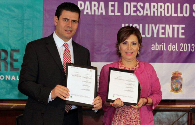 Firman Sedesol y el gobierno de Zacatecas el Acuerdo Integral para el Desarrollo Social Incluyente.