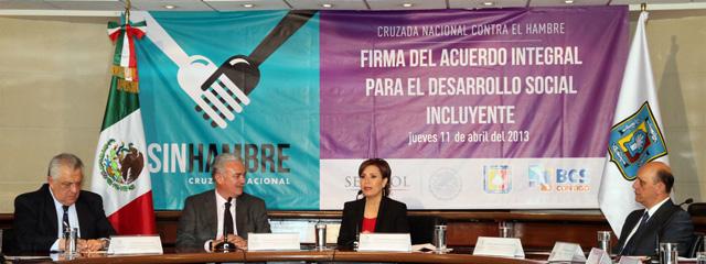 Firman Sedesol y el Gobierno de Baja California Sur el Acuerdo Integral para el Desarrollo Social Incluyente – Cruzada Nacional Contra el Hambre.