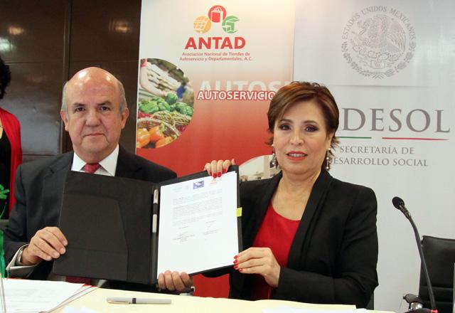 Firman la Sedesol y la ANTAD un convenio de colaboración para distribuir los beneficios sociales de Oportunidades y de la Pensión para Adultos Mayores