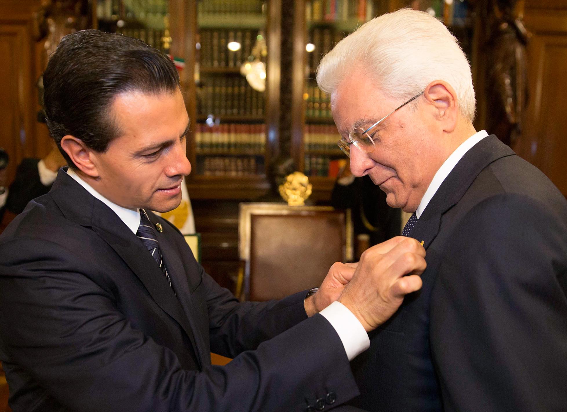 """""""México e Italia están vinculados con una relación y una asociación estratégica que refleja un punto de vista en común, también, una evaluación común sobre todos los problemas importantes en cuanto a la agenda internacional"""": Sergio Mattarella"""