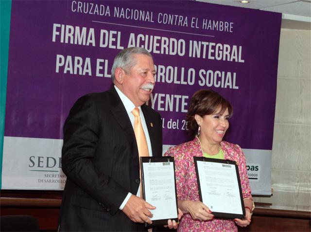 La nueva política social se tiene que construir sumando esfuerzos de los tres órdenes de Gobierno: Rosario Robles Berlanga.