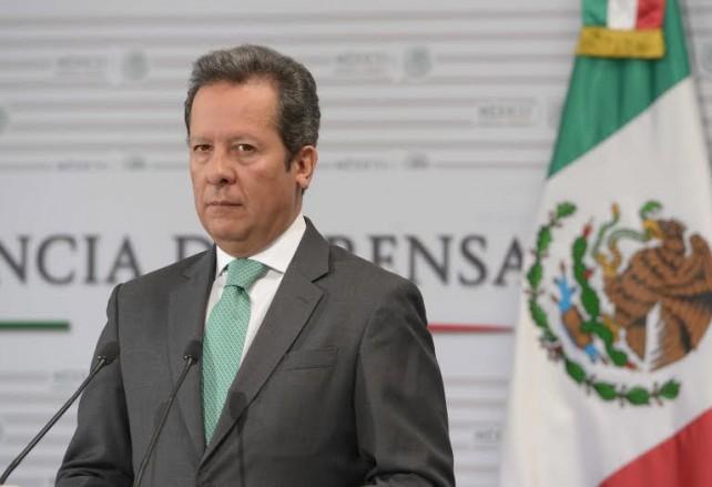 Eduardo Sánchez Hernández, Vocero del Gobierno de la República, en conferencia de prensa.