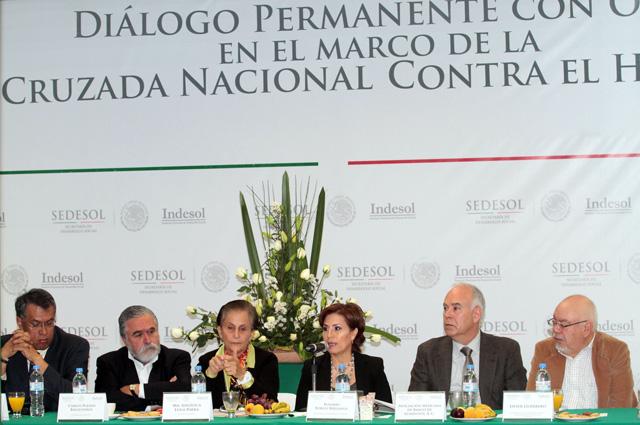 Se establece en  Indesol el grupo de diálogo permanente con las OSC en el marco de la Cruzada Nacional Contra el Hambre.