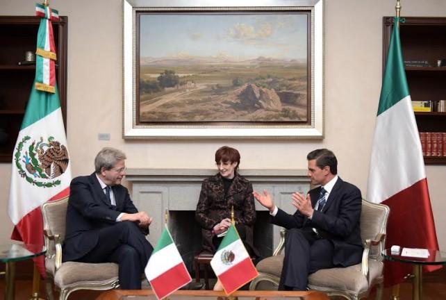 El Presidente Enrique Peña Nieto recibió al Ministro de Asuntos Exteriores y Cooperación Internacional de la República Italiana, Paolo Gentiloni.