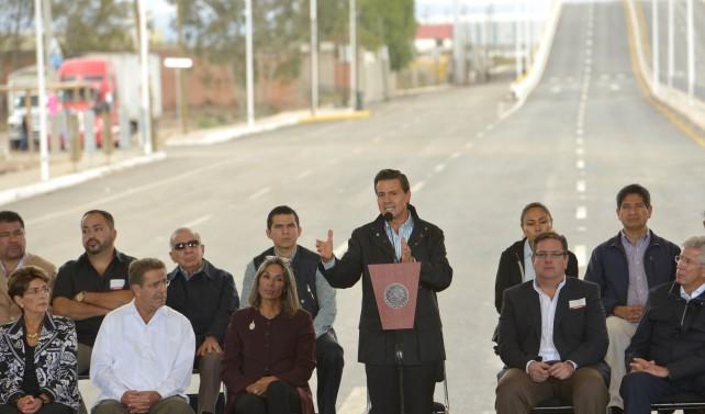 EPN al inaugurar la ampliación y modernización del Anillo Periférico de San Luis Potosí.
