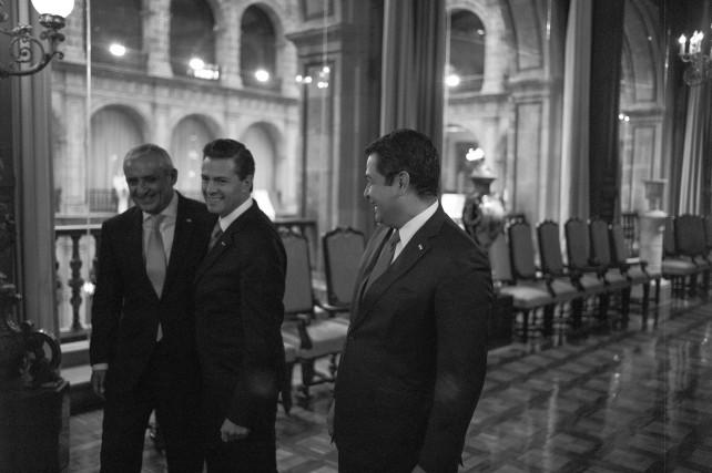 El Presidente Enrique Peña Nieto con el marco de la Visita Oficial del mandatario de Guatemala.