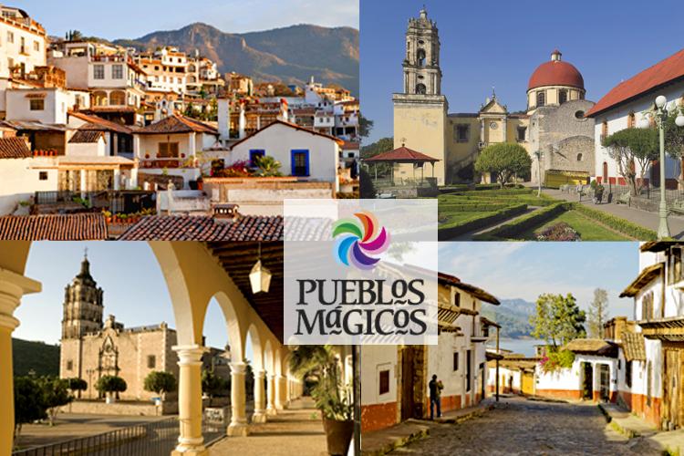Collage de Pueblos Mágicos.