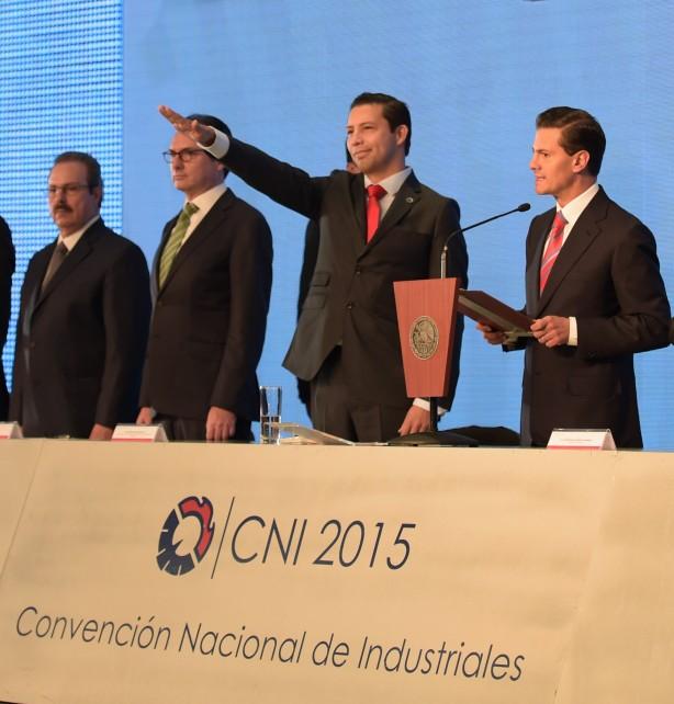 El Presidente Enrique Peña Nieto en la Convención Nacional de Industriales 2015.