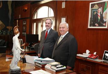 Los secretarios de Educación Pública y de la Organización de Estados Iberoamericanos