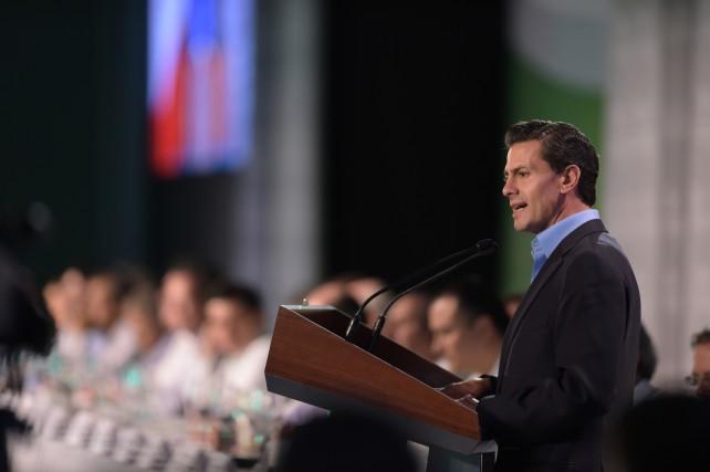 Presidente Enrique Peña Nieto, durante la Clausura de la 78 Convención Bancaria.
