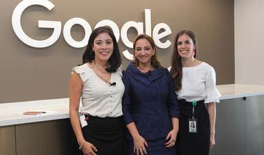 Reunión de la Canciller Claudia Ruiz Massieu con mujeres latinas en Google