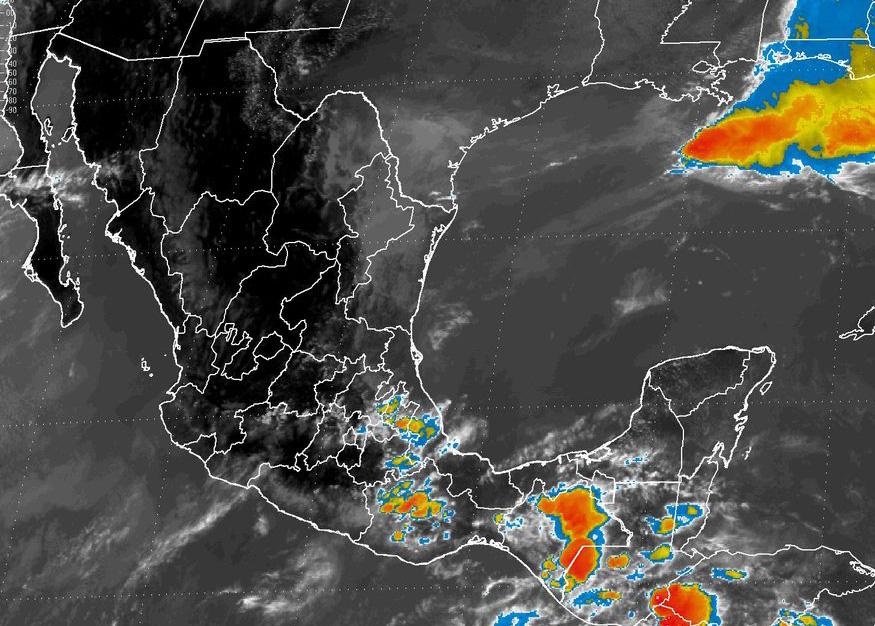 Chubascos muy fuertes con tormentas locales intensas, se prevén en Veracruz y Oaxaca.
