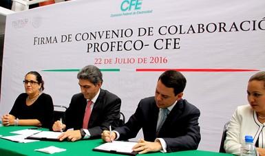 Boletín 074 Firman Cfe Y Profeco Convenio Para Agilizar Y