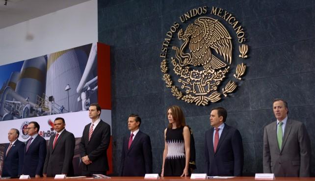 EPN en el evento en el que Grupo Modelo anunció una inversión de 5 mil millones de pesos en el Proyecto Maya.