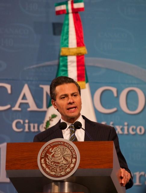 EPN en el discruso del 140 Aniversario de la Cámara Nacional de Comercio, Servicios y Turismo de la Ciudad de México.
