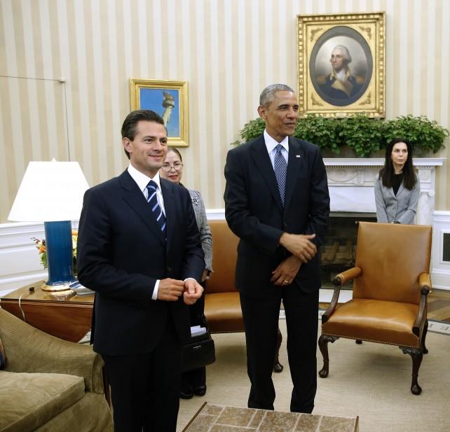 Presidente Enrique Peña Nieto con el Presidente Barack Obama en la Casa Blanca.