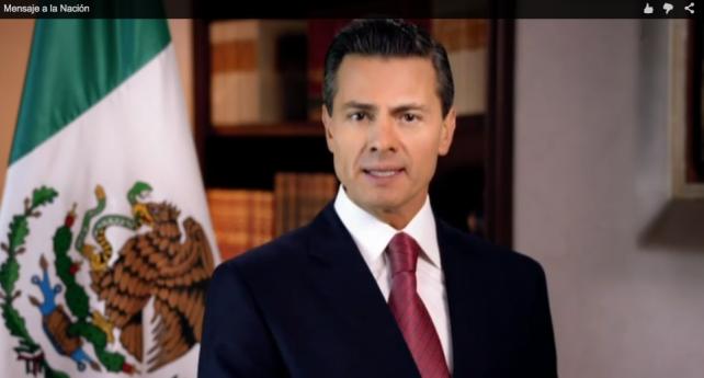 El Presidente Enrique Peña Nieto da mensaje a los mexicanos con motivo del inicio de 2015.