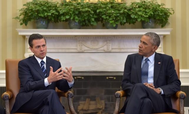 El Presidente Enrique Peña Nieto con el Presidente Barack Obama durante su visita de trabajo a Washington.