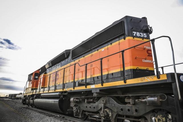 Tren de la nueva terminal ferroviaria en Durango.