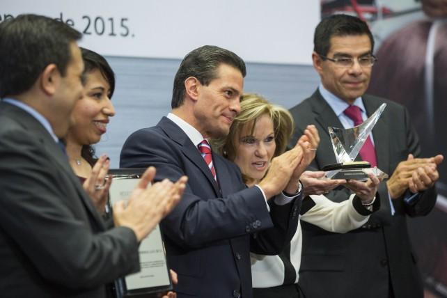 EPN en la ceremonia de entrega del Premio Nacional de Calidad 2014, que este año cumple su 25ª edición.