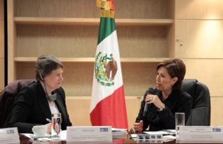 Se reune la secretaria de Desarrollo Social, Rosario Robles Berlanga, con Helen Clark, administradora del Programa de las Naciones Unidas para el Desarrollo.