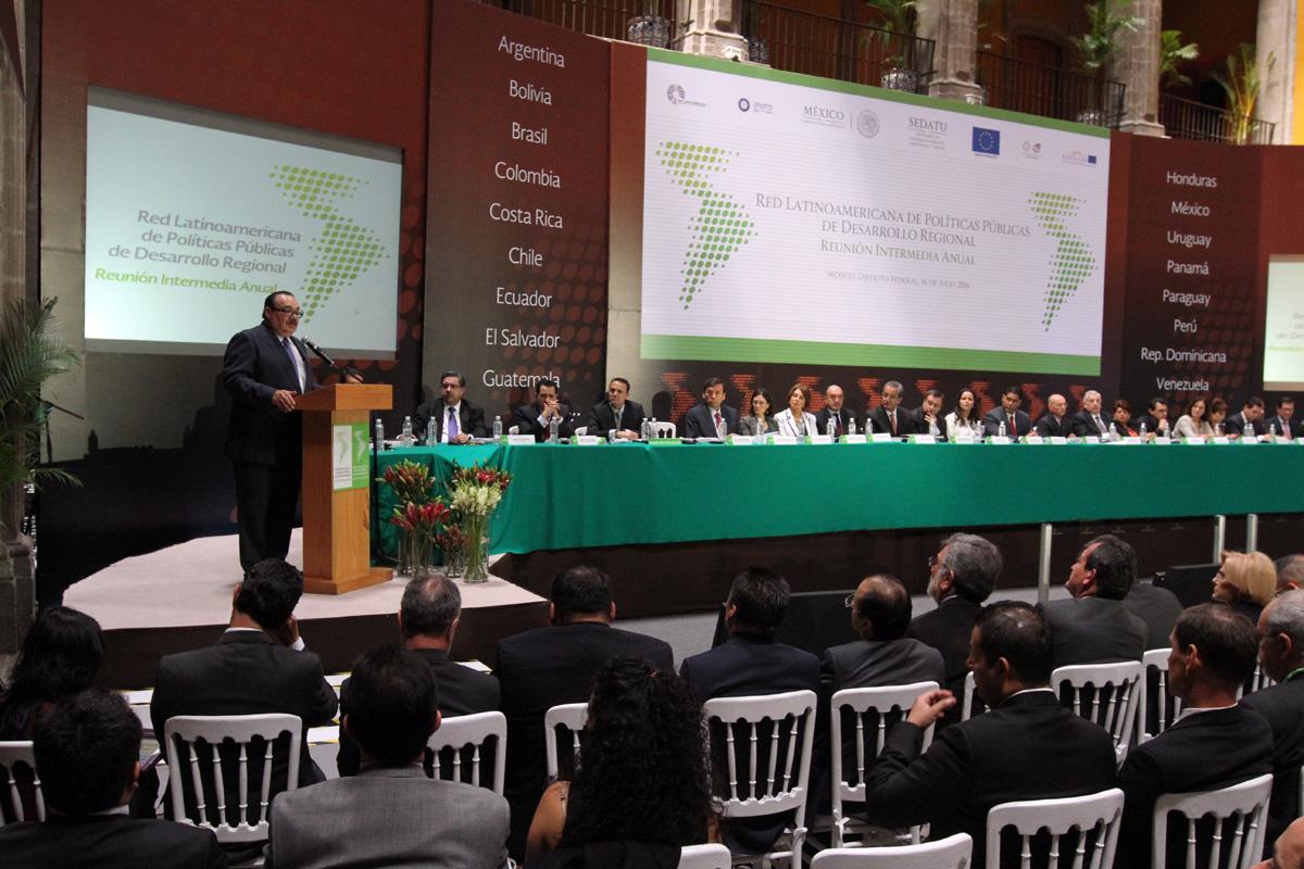 El secretario de Desarrollo Agrario, Territorial y Urbano, Jorge Carlos Ramírez Marín, inauguró la Reunión Intermedia Anual de la Red Latinoamericana de Políticas Públicas de Desarrollo Regional.