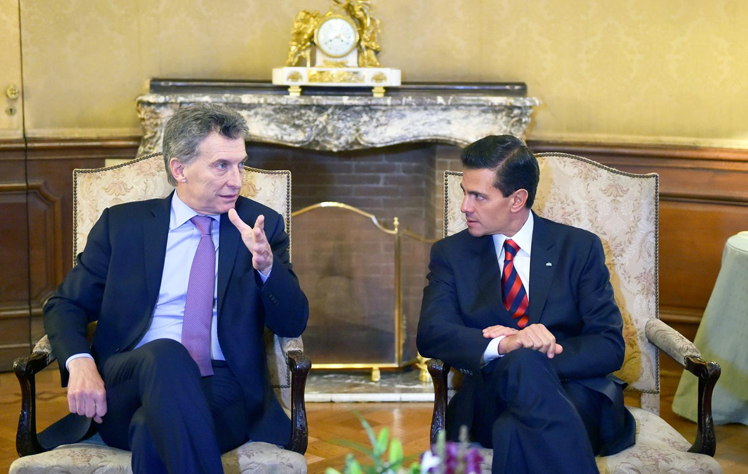 """President Peña Nieto said that Mexico, """"Has made structural reforms a new platform, and today the government is working to define and materialize the benefits that will derive from these reforms for our society""""."""