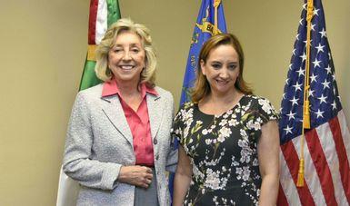 La Canciller Claudia Ruiz Massieu en reunión con la Representante Federal Dina Titus