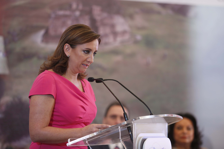 La Secretaría de Turismo del Gobierno de la República (SECTUR), Claudia Ruiz Massieu, expone los beneficios del convenio con el GDF al compartir cifras en Datatur.