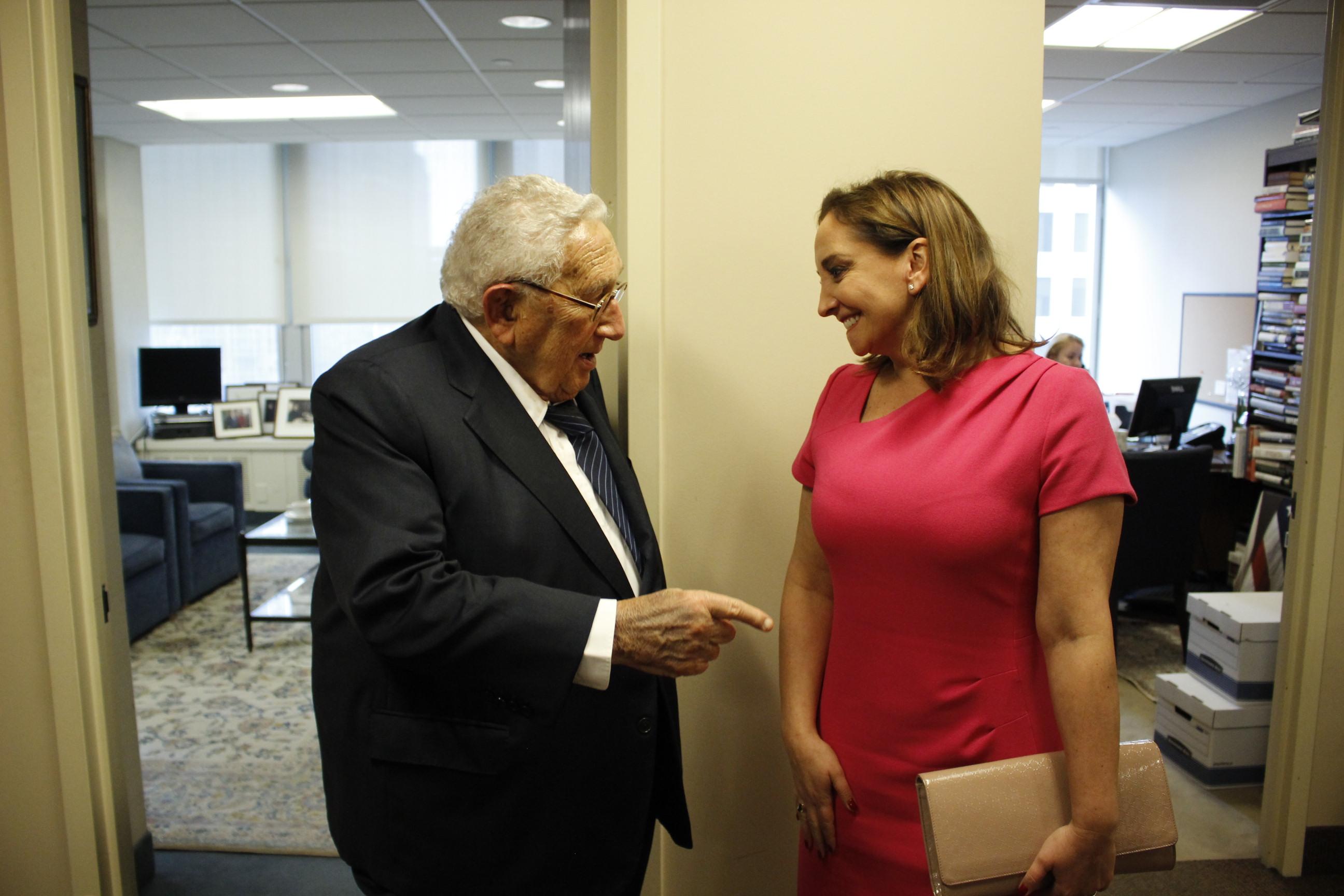 Reunión de la Canciller Claudia Ruiz Massieu con Henry Kissinger
