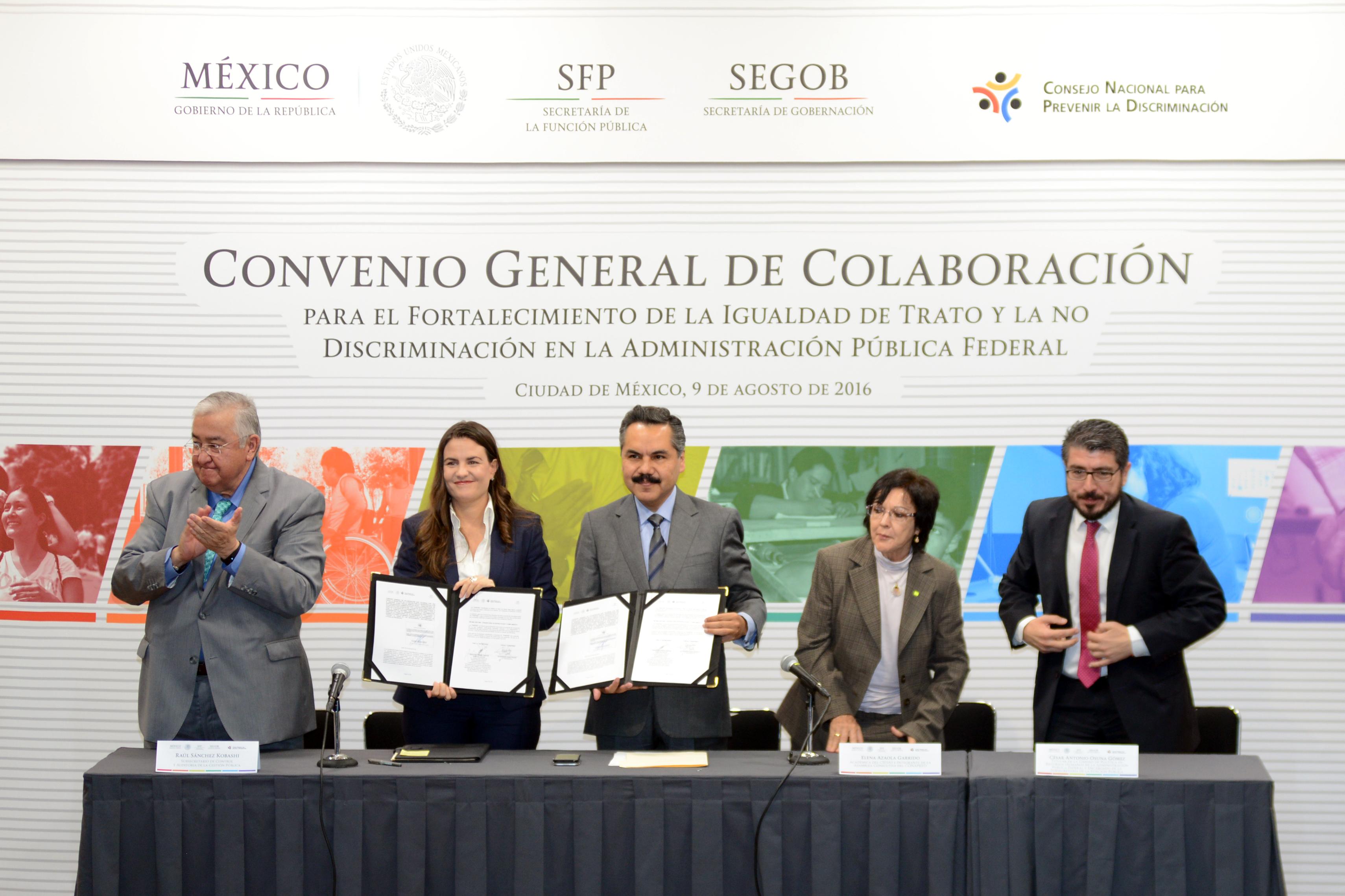 Celebran SFP y CONAPRED Convenio de Colaboración para fortalecer igualdad de trato y no discriminación