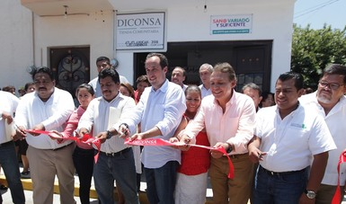 Inaugura Diconsa tiendas comunitarias en poblaciones marginadas de Morelos