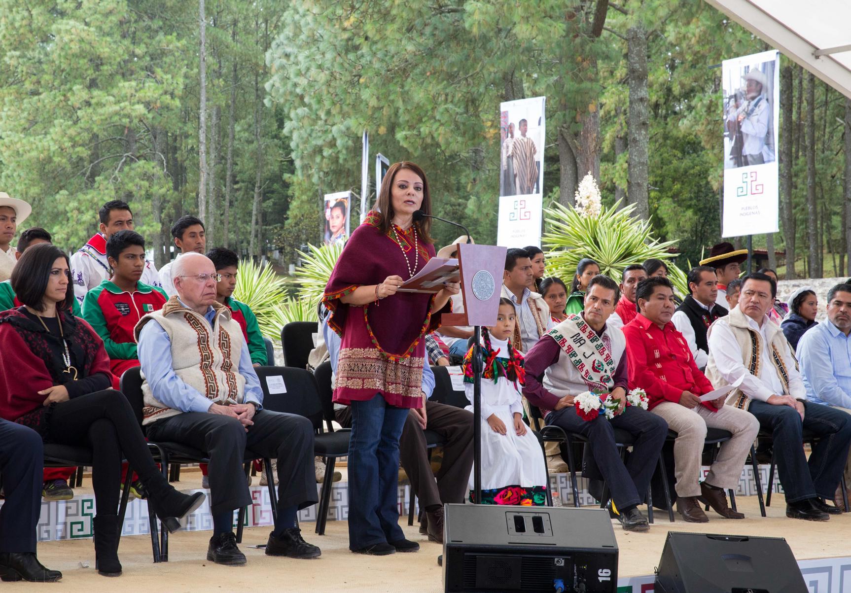 """""""Con las acciones de excarcelación de este Gobierno se ha cambiado la vida de más de cuatro mil indígenas que están hoy en libertad"""", Nuvia Mayorga Delgado."""