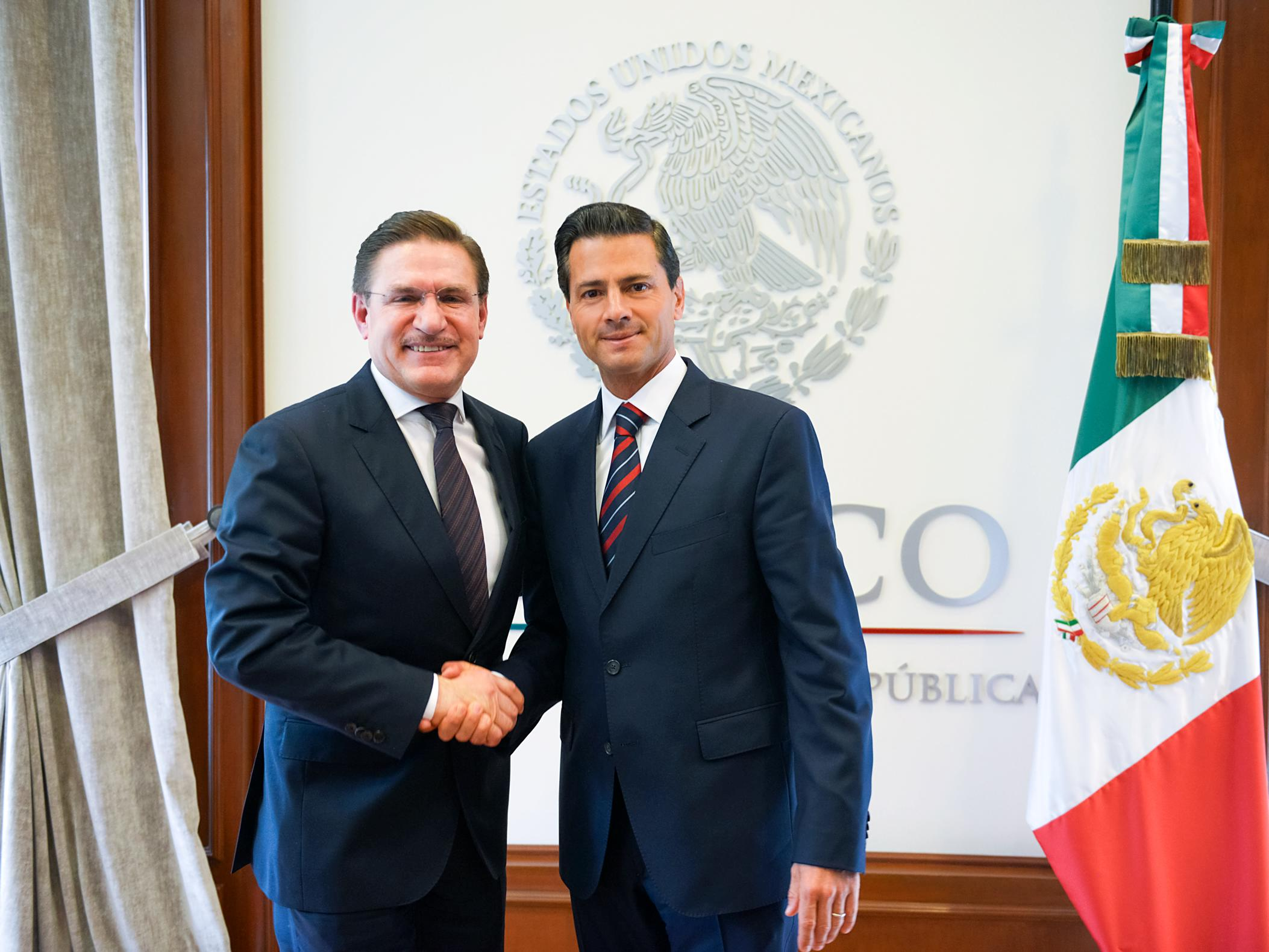 Rosas Aispuro told President Peña Nieto of various projects he will undertake in its administration in order to boost the state's development.