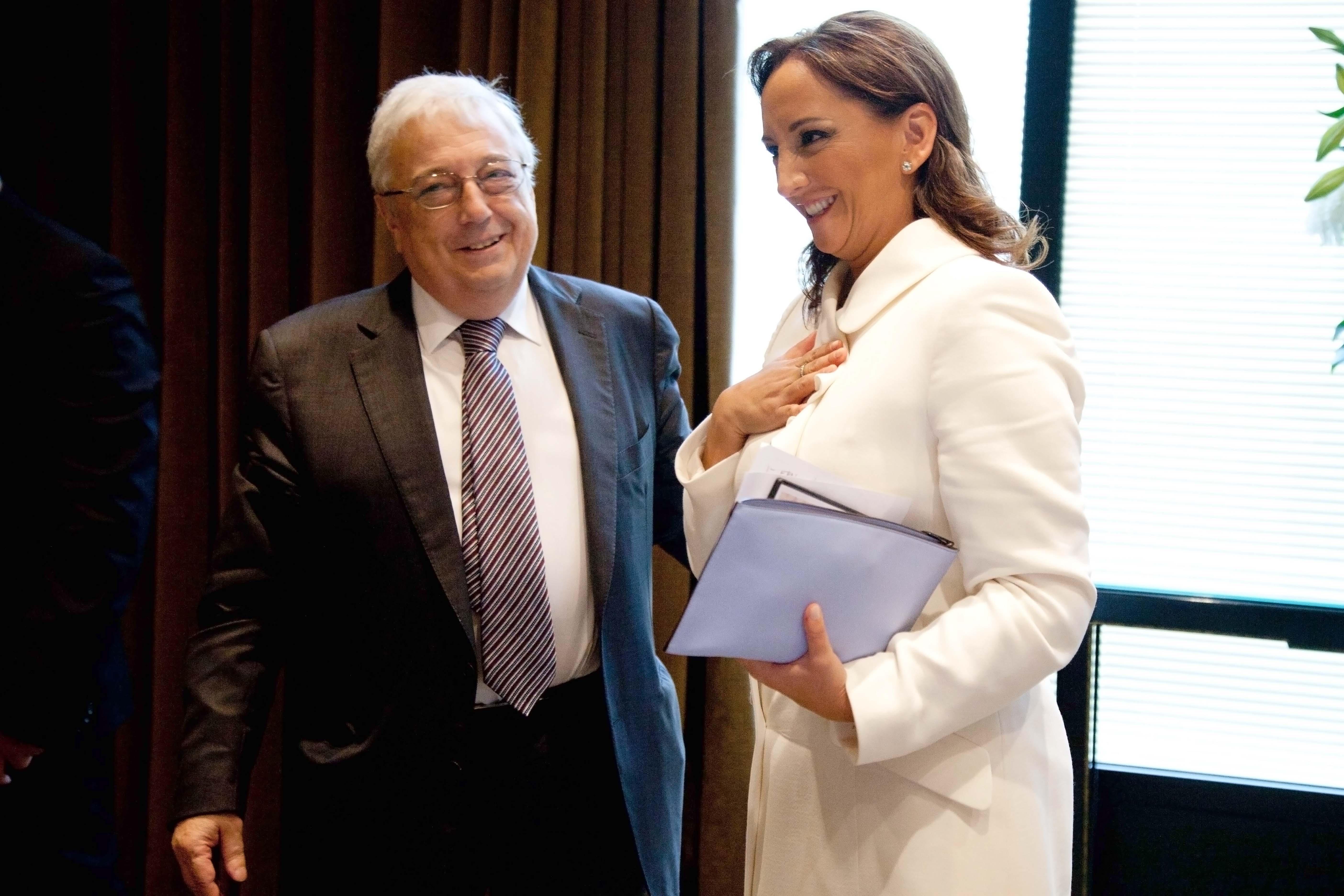 La Secretaria de Turismo, Claudia Ruiz Massieu, durante la gira de trabajo por Portugal.
