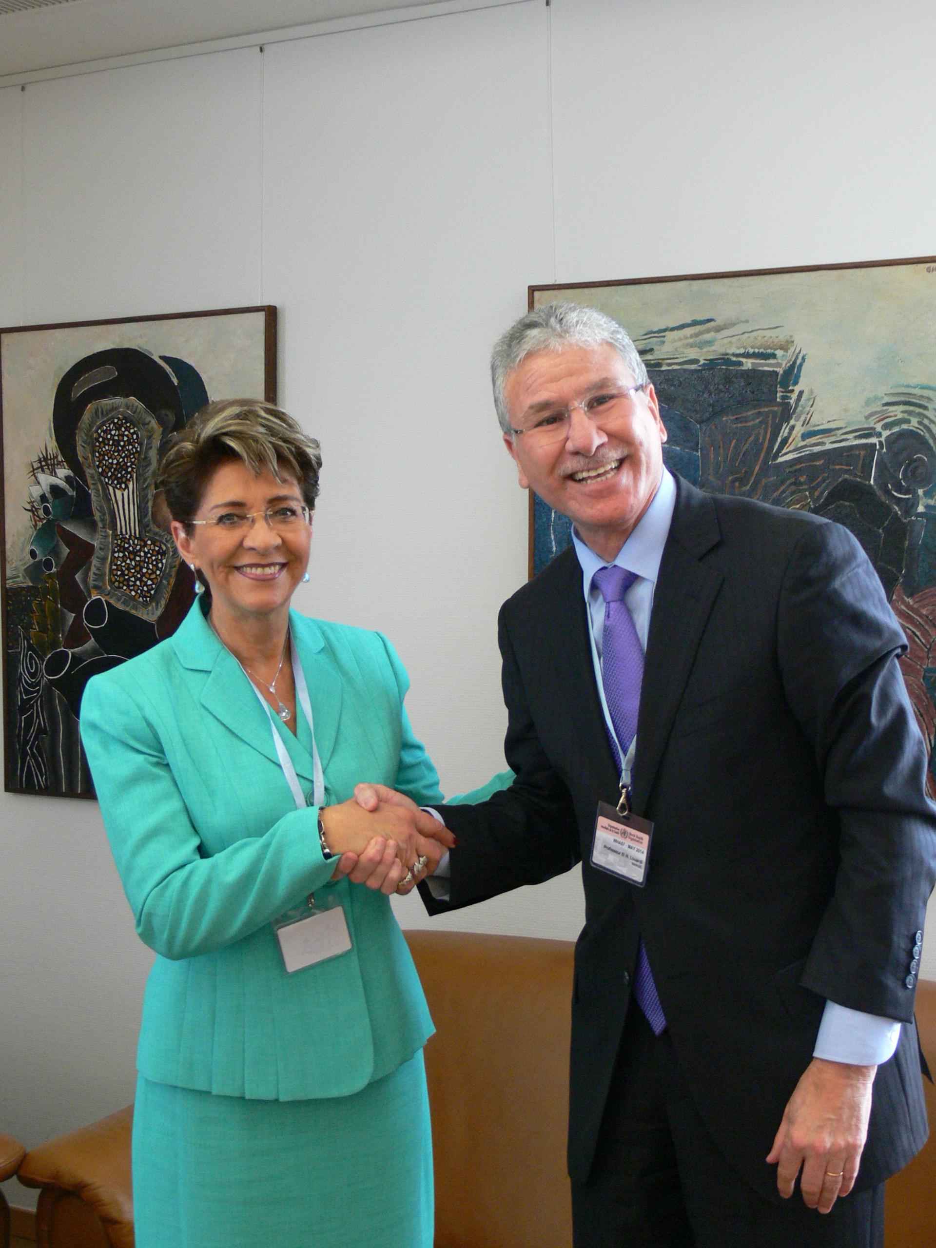Reunión en el marco de la 67 Asamblea de la OMS