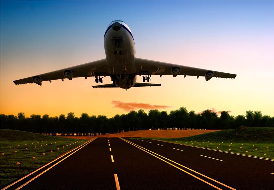 Transporte aéreo.