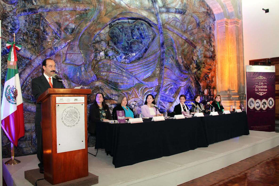 El Instituto Nacional de Estudios de las Revoluciones de México (INEHRM) presentó el primer volumen de la colección Maestras de México, titulado Las maestras de México: Rita Cetina, Dolores Correa, Laura Méndez, Rosaura Zapata.