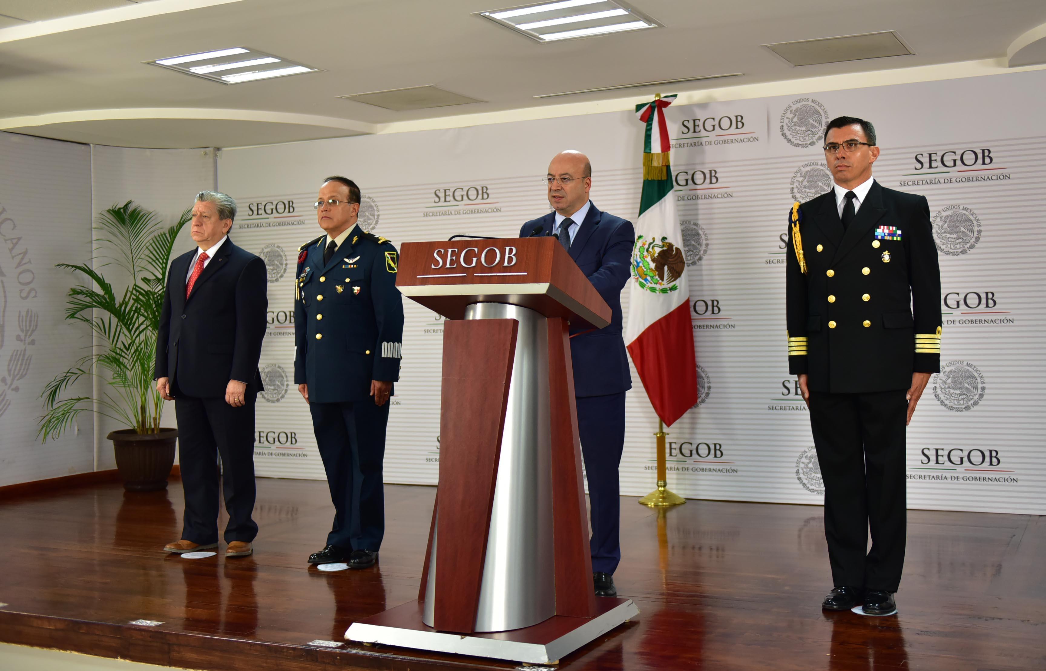 Conferencia de Prensa del Comisionado Nacional de Seguridad, Renato Sales Heredia
