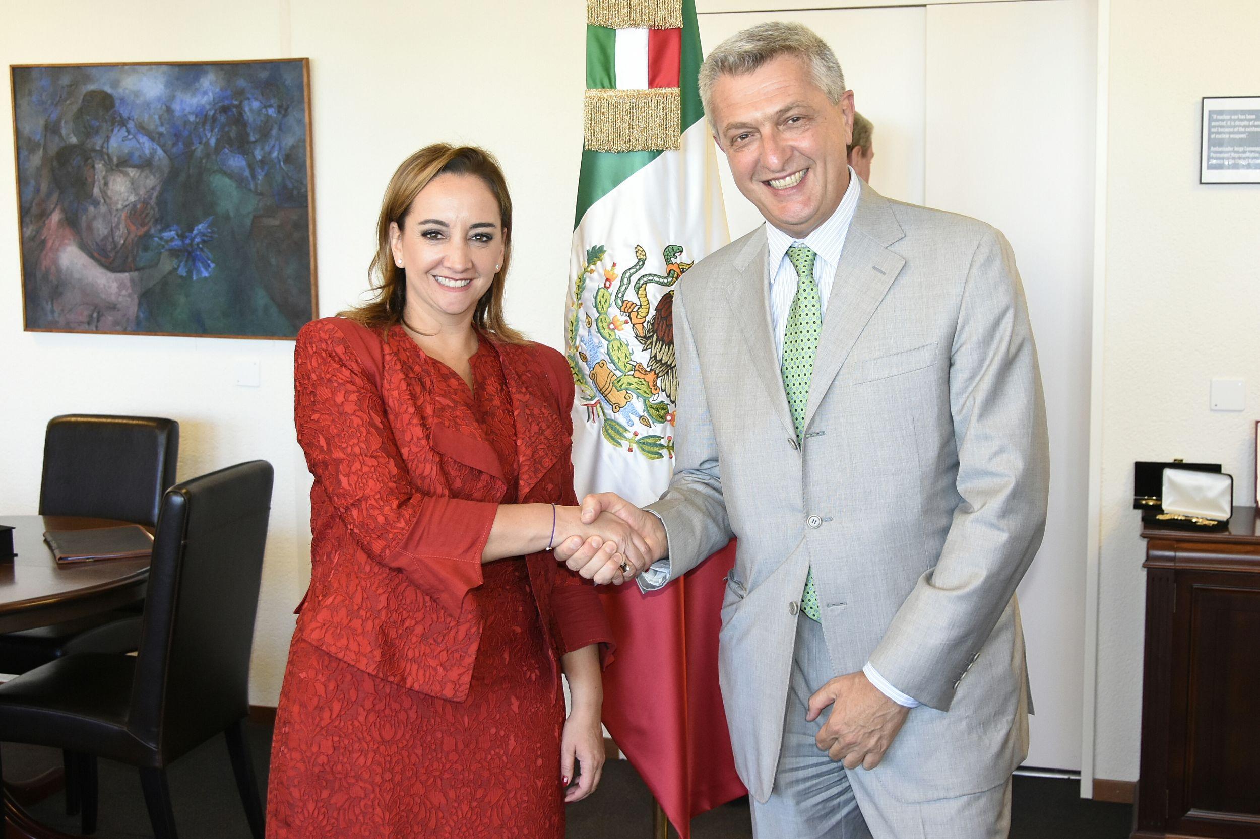 La Canciller se reunió con el Alto Comisionado de las Naciones Unidas para los Refugiados (ACNUR), Filippo Grandi
